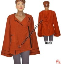 Cotton Choli design hooded top