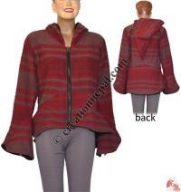 Stripes BTC fleece lining jacket