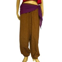 Side string design cotton harem trouser4