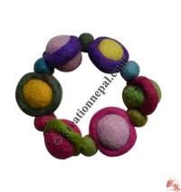 Circled balls felt bracelet