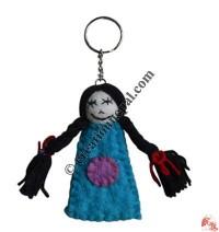 Felt woman key ring