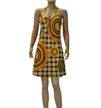 Thin cotton printed dress
