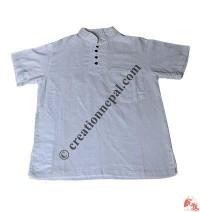 Flex plain short sleeves shirt
