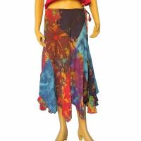 Tie dye patch frills skirt