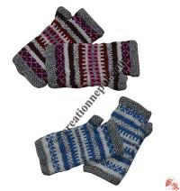 Single ply woolen tube gloves