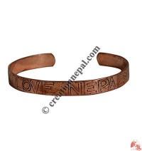 Love Nepal copper bangle