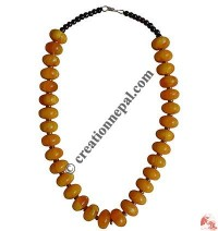 Yellow amber beads necklace