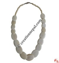 Ivory flat beads necklace
