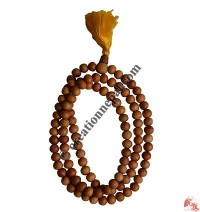 Natural color wood 9 mm 108 beads mala