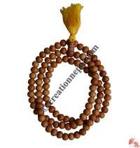 Natural color wood 7-8 mm 108 beads mala