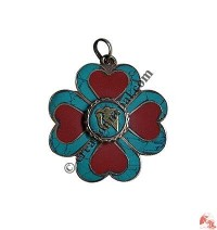 Om hearts pendent