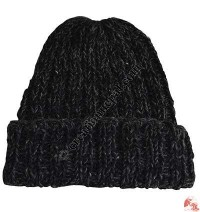 Two color mixed woolen hat1