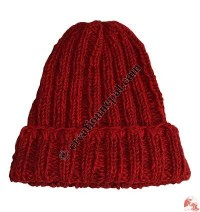 Two color mixed woolen hat2