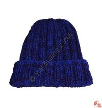 Two color mixed woolen hat5