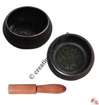 Om Mani mantra attached singing bowl