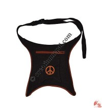 Peace sign cotton belt bag