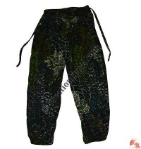Thin cotton printed trouser1