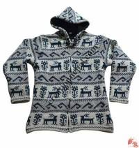 Animal pattern woolen jacket