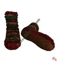 Woolen indoor socks-Rasta