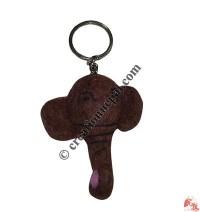 Felt elephant head key ring