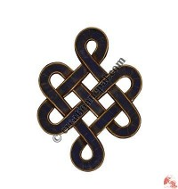 Lapis decorated small endless knot