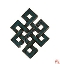 Turquoise decorated small endless knot