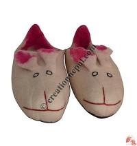 Rabbit felt shoes -  Adult