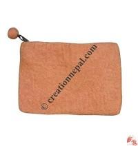 Plain color felt coin purse