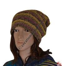 Hemp-cotton stripes cap
