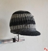Charcoal color setting woolen hat