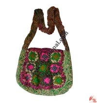 Banana silk-woolen flower bag