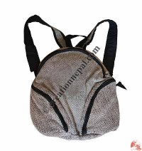 Hemp-cotton half-round shape bag