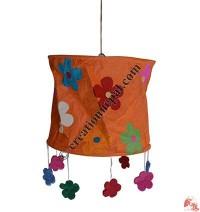 Flower frills Lokta paper lamp shade