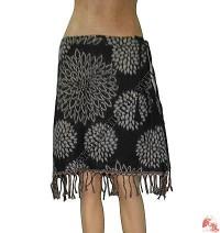 Acrylic-cotton frills skirt