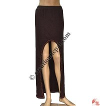 Front open long skirt