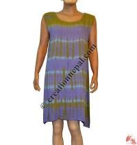 Tie-dye rayon dress