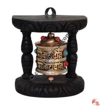 Wall hanging small prayer wheel