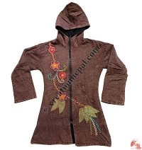 Shyama cotton hooded long coat1