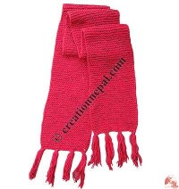 Simple crochet woolen muffler3