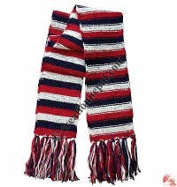 6-color stripes woolen muffler1