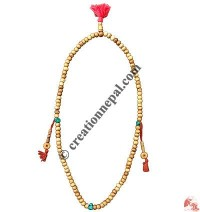 Decorated ivory beads Japa mala2