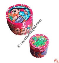 Mithila small round box set of 2