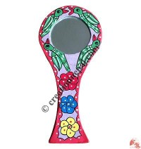 Mithila arts handle mirror