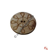 Carved bone button2 (packet of 10)