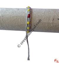 Yellow-red beads hemp hand band