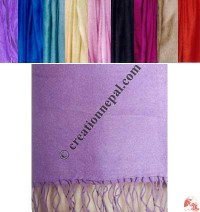Pure silk plain color scarf