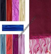 Pure silk plain color muffler
