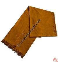 Raw silk Monk shawl-mustard