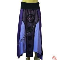 Lycra waist front layer cotton skirt1