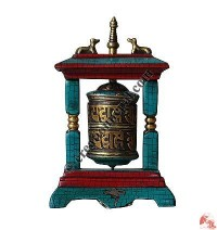 Table-stand decorative prayer wheel 5